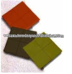 Different Color Outdoor Rubber Roof Tiles