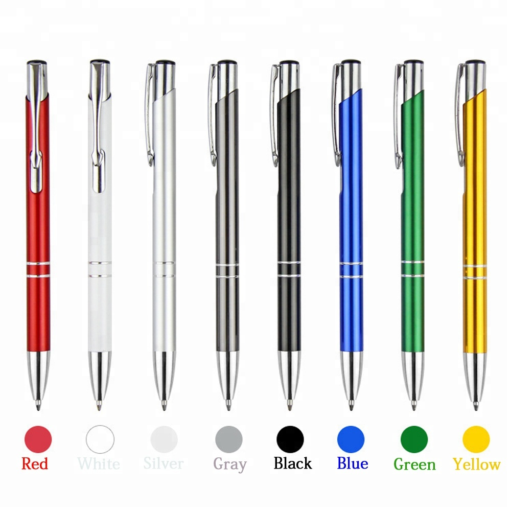 Custom Colorful Metal Body Ballpoint <strong>Pen</strong> With Laser Logo For Promotional Usage