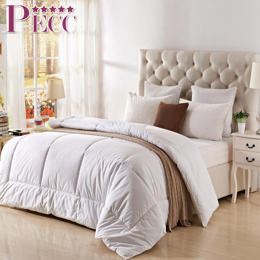 Luxury Alternative 100% Goose Down Comforter Polyester Fabric Quilt