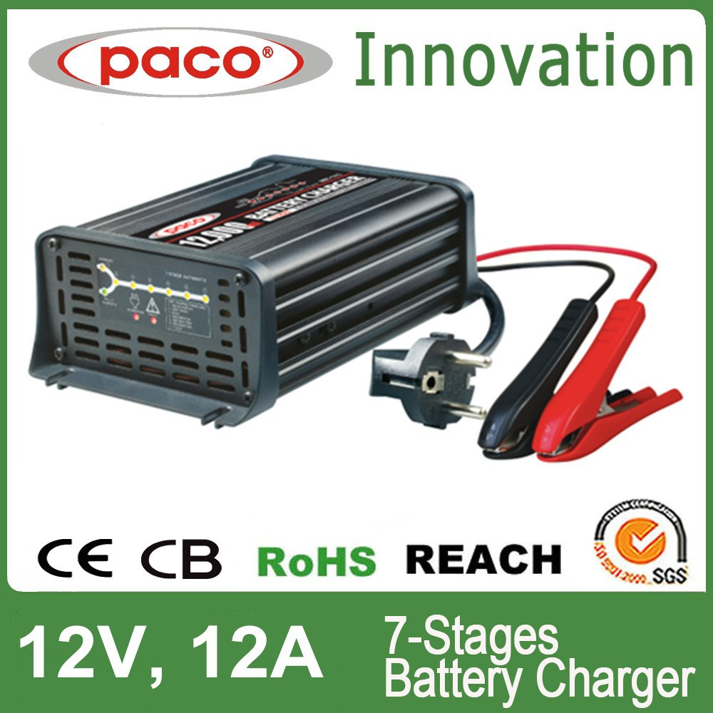 Best RC car battery charger 12V,12A,7 stage automatic charging with CE,CB,RoHS certificate