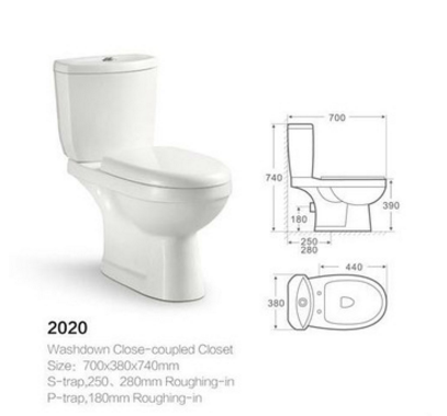 CNAS Sanitary ware cheap two piece hospital toilet