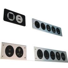 Aluminum Wall Mounted Power Outlet Socket/Multiple Panel Mounted Plate