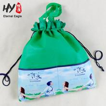 specilized pictures full color printing non woven drawstring bag