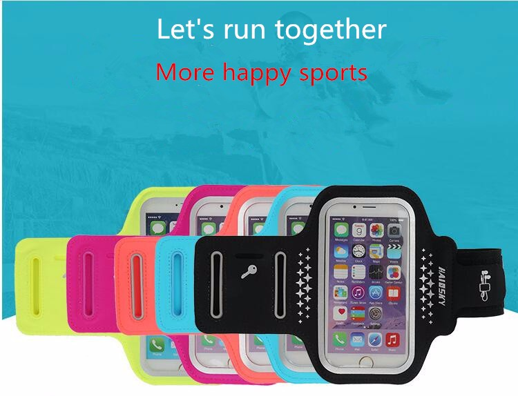 5.5 inch Muti-colors Lycra Armband case,sport armband jogging case for iphone 7 /7 plus , 6/6 plus