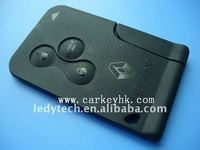 Key card renault,High quality Renault Megane smart card 3 button with key blade 433Mhz ID46 chip,renault megane card key