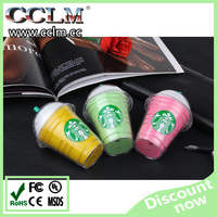 Fashion style Starbucks Cup Power Bank 5200mAh for smart phone