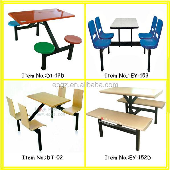 Cheap Fiberglass Top School Canteen Table Student Dining Refectory Table