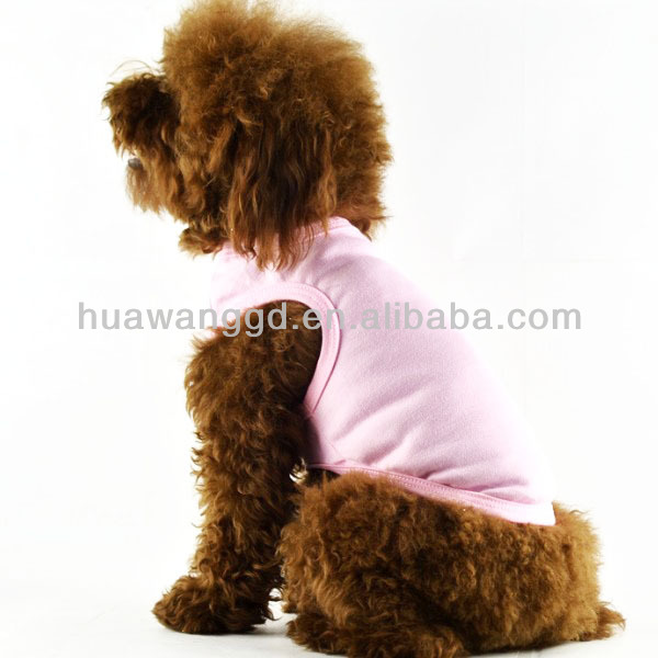 Hot sale customized plain dog tank top, blank pet dog cotton tank top, simply pet summer clothing