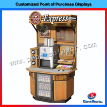 2017 new product High quality custom wooden beverage rack