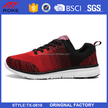 2017 new fashion safety work light fly knit upper running sport shoes
