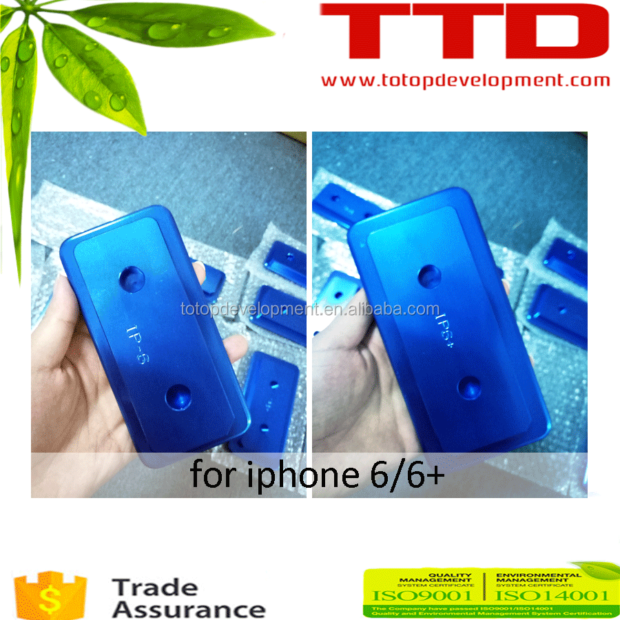 blue aluminum cell phone case mold printed with sublimation ink for iphone 6/6+ in 3D vacuum heat machine