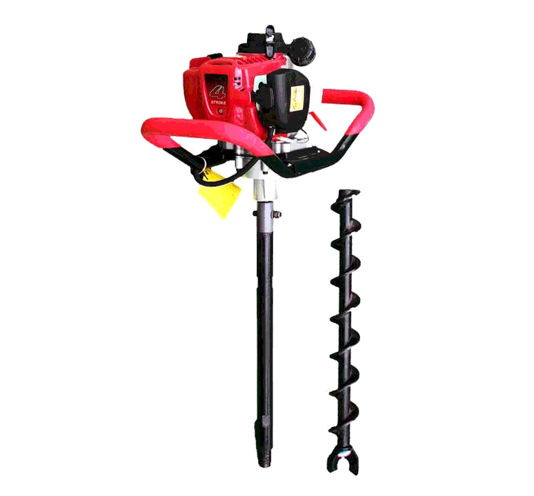 Portable gasoline ground hole drill earth auger