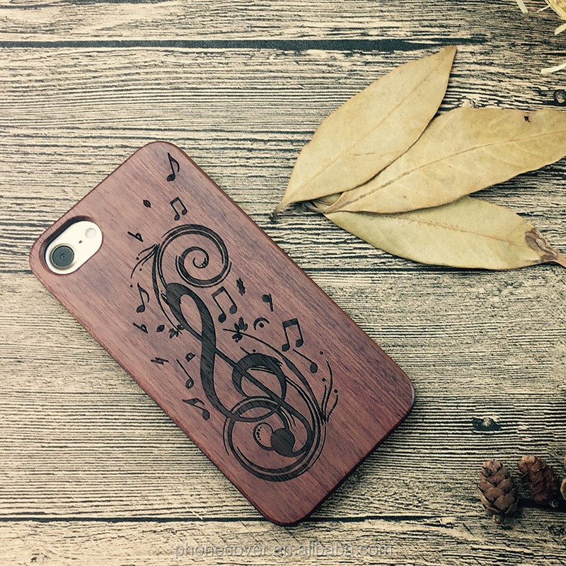 Eco-friendly Wooden PC + TPU Mobile Phone Cover Case for iPhone 6, for Huawei P9
