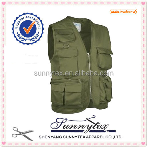wholesale garments fishing Vest for men with multi pockets