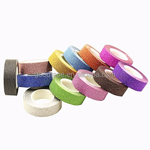 GOOD Brand high quality good adhesive glitter tape for decoration