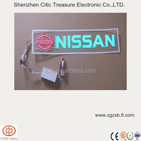 Custom electroluminescent car sticker,glow sign