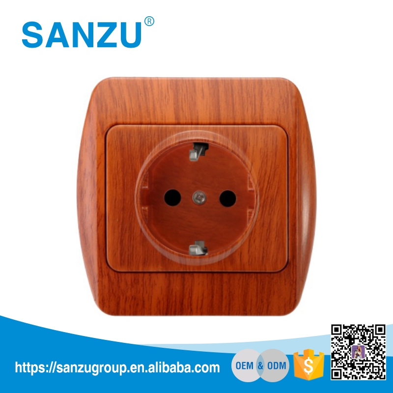 High Quality European wall socket, 16A 2P+E european socket, electric wall socket