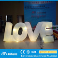 Led inflatable love letter for wedding stage decoration