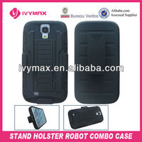 robot shape stand case for samsung s4 mobile phone