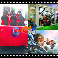 Video game 5D cinema 2 seat hydraulic and electric system