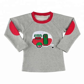 Wholesale long sleeve boutique clothing baby boy clothing boy shirts for Christmas