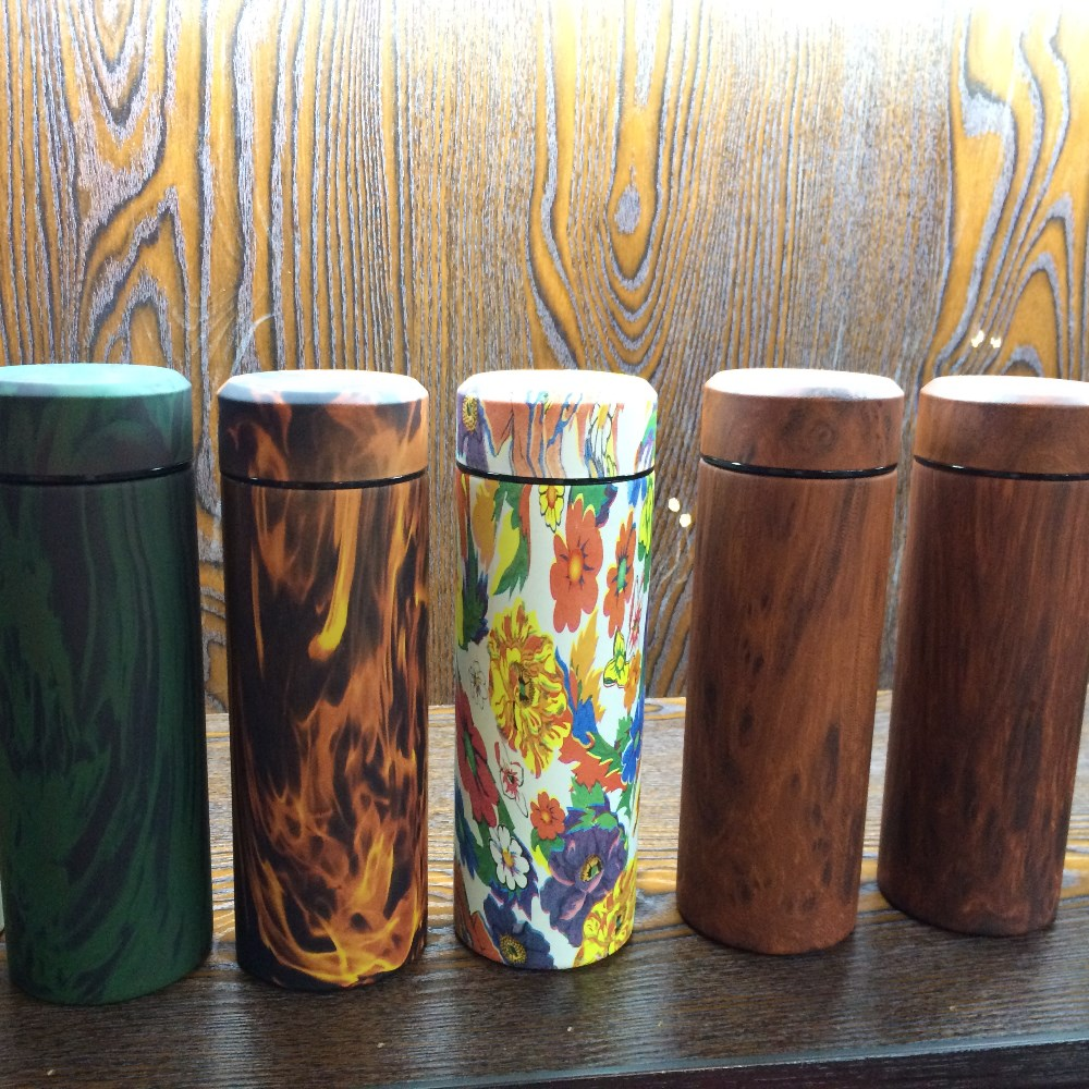 Personalized Wooden Grain Thermos Cup, New Design, eco-friendly