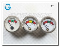 High quality back mount miniature bourdon tube pressure gauges