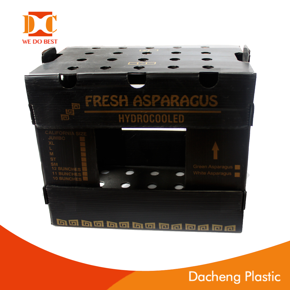 PP material corrugated box,fruit box, vegetable box