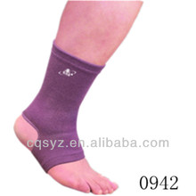 Purple color medical elasticated compression ankle protector