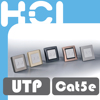 Taiwan Manufacturer RJ45 Metal Cellular Faceplate with Door
