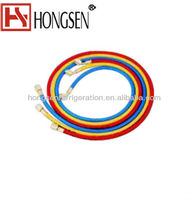 "1/4"" refrigerant charging hose With SealRight low loss anti-blow back fitting"