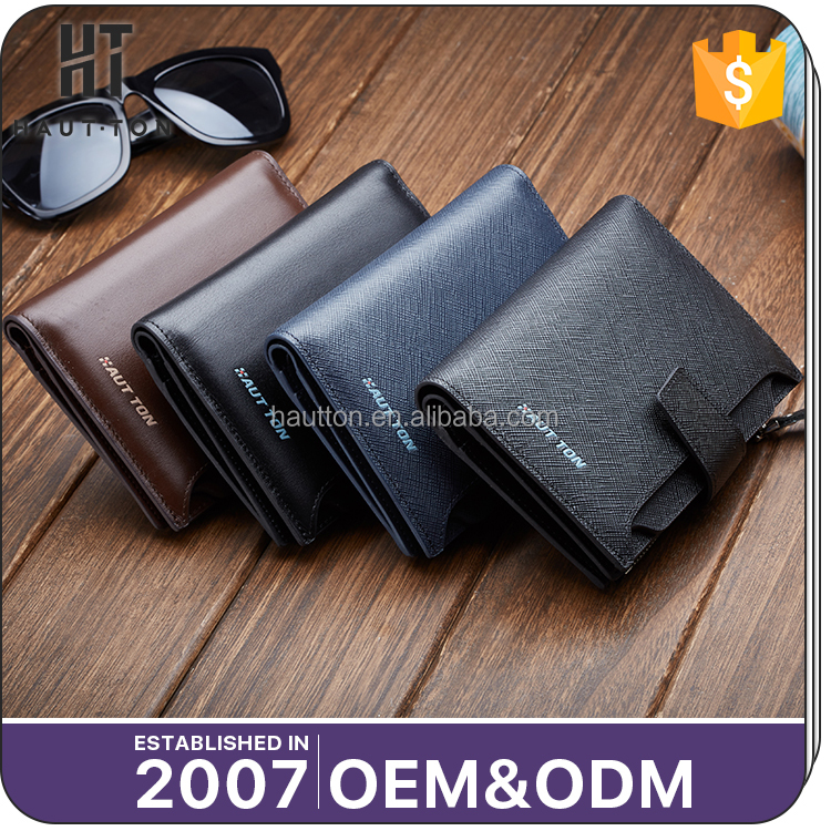 HAUTTON New Arrival Custom Man Mini Safe Wallets Best Selling Durable Men Multifunctional Genuine Top Cow Leather Wallet