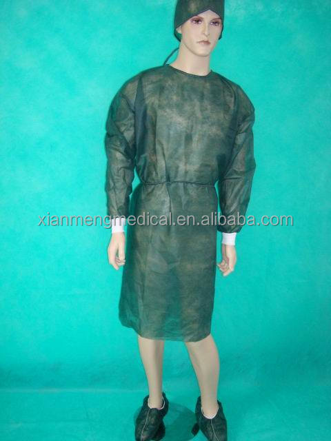 Cheap disposable non woven PP SMS surgeon hospital clothing doctor uniform