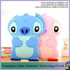 cute silicon cartoon Stitch unbreakable 3d image protective case for ipad case