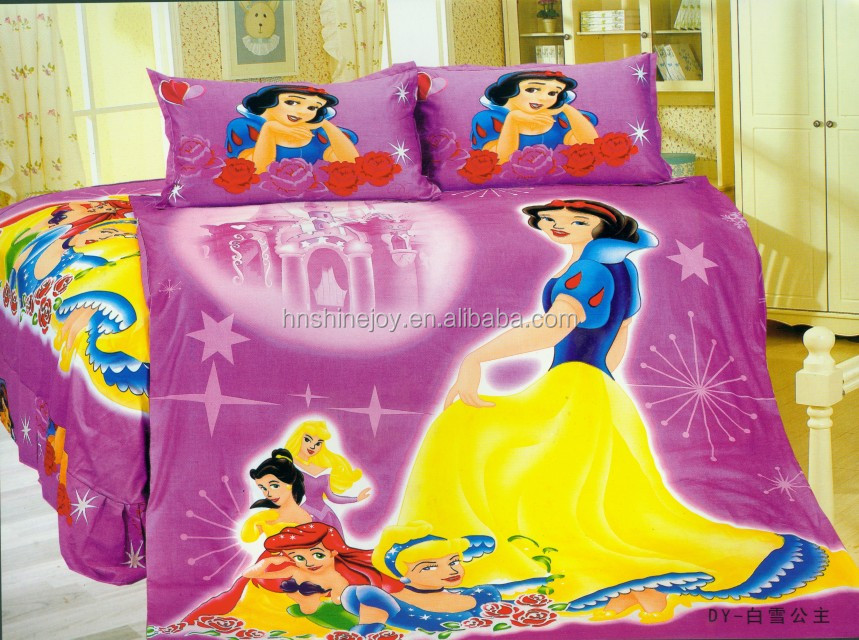 most popular animated kids bedding sets flat sheet cartoon fitted sheet