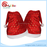 Fashion Wine Bottle Hat Cover Christmas Cap for Bottles Mouth Santa Claus Xmas Gift Red Christmas Party Decorative Supplier