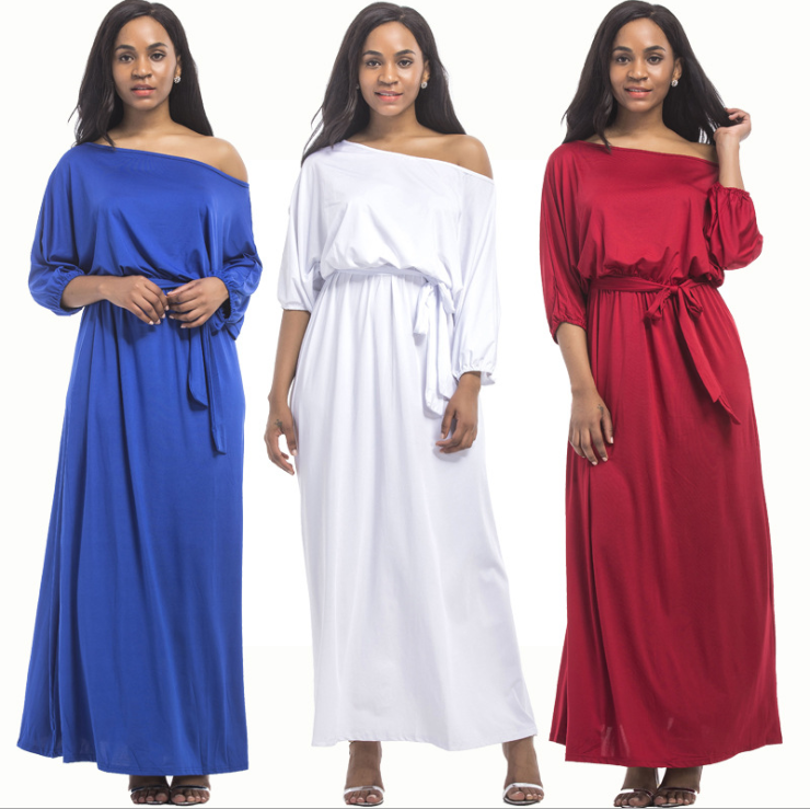 lx10104a hottest plus size women clothing new model casual dresses ladies long dress