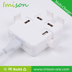 AC Socket Stand Holder With 4 Port USB Power Socket