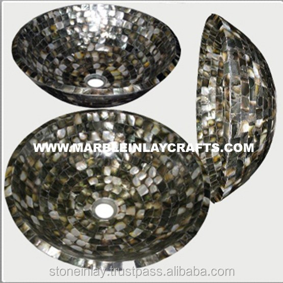 Grey Mother Of Pearl Sink Bowl