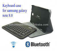 New Arrival Detachable Wireless Bluetooth Keyboard for Samsung galaxy note 8.0 case keyboard