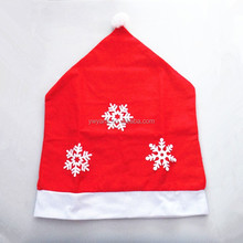 Party Gift Snowflake Decor Christmas Dinner Chair Cover Hat Chair Back Cover