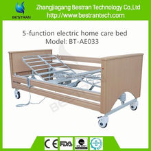 BT-AE033 with wooden side rail remote control home care nursing electric bed for sale
