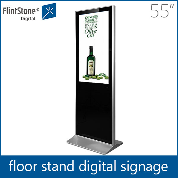 55 inch heavy duty floor stand lcd digital signage player