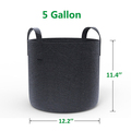 Improving Drainage Customizing Sizes Black Felt Potato Plant Grow Bag