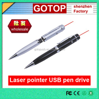 Cheap Promotional gift ball pen with Laser Pointer usb flash Drive pen USB stick memory disk