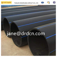 HDPE garden suppliers drain pe water pipe pn10 sdr17 black list