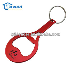 Gift Racquet Shape Metal Bottle Opener Keyring Parts