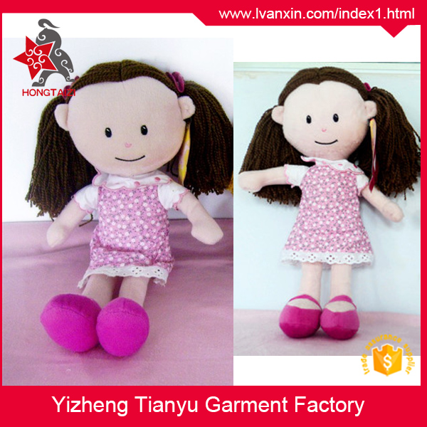 China supplier Custom design kids toy stuffed toy plush girl plush doll