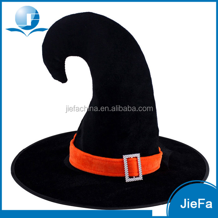 High Quality Halloween Party Black Felt Witch Hat