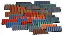 chinese style colorful stone coated metal maroon roofing tiles